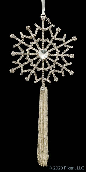 Gleam with Long Silver Tassel